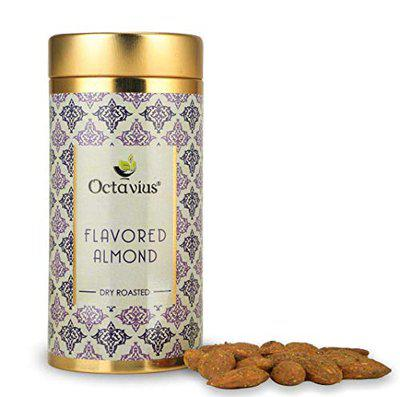 OCTAVIUS Gourmet Almond | Spicy Mint Flavour | Packed In Beautiful Tin Can | Perfect For Gifting - 100 Gms