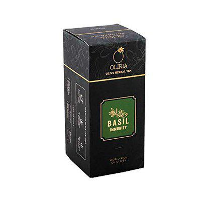 Oliria- The Olive Tea- Immunity Booster-Healthy and Natural Olive Tree Herbal Tea with The Basil Flavour 20 Tea Bags Each 2Gm 40Gm