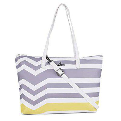 Carline Lg Hz Tote-Ladieshandbag Off White