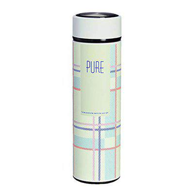 Kids Mandi Double Wall Stainless Steel Water Bottle with Drainer, Perfect for Indoor Office Outdoor Sports (Pure)
