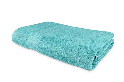 Roseate Elegance 100% Cotton (550 GSM/ 70x140 cm) Large Bath Towel Ultra Soft Super Absorbent/Anti Bacterial (Peacock) Pack of 1
