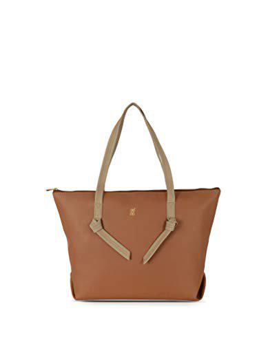 Baggit Women Solid SyntheticTote Bag Tan
