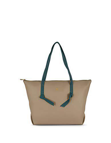 Baggit Women Solid SyntheticTote Bag Beige