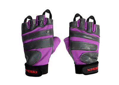 Xpeed Gym Fitness Leather Glove Half Finger for Workout Weight Lifting Regular Use