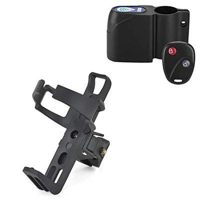 Bicycle Wireless Security Alarm Lock and Bicycle Bottle Holder (Black)