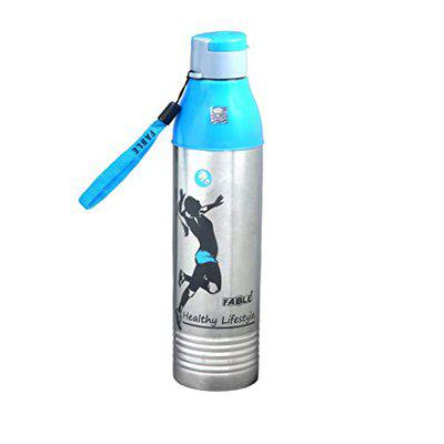 FABLE Hot & Cold Insulated Water Bottle Cool Nexa Steel 100% Leak Proof (Blue, 600Ml)