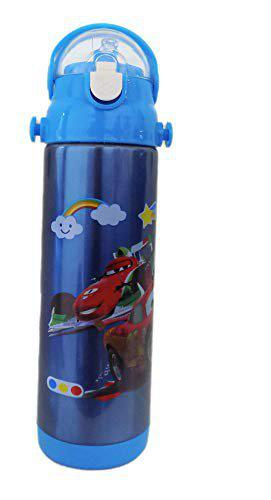 Fully Printed Stainless Steel BPA Free Water Bottle for Girls and Boys Blue Pack of 1