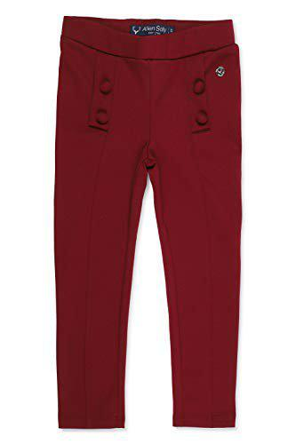 Allen Solly Girl's Relaxed Regular fit Trousers (AGLGCRGBJ20510_Maroon_2-3Y)
