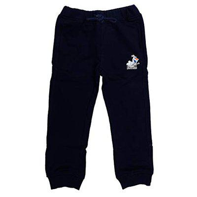 Frozen Girl's Straight Fit Regular Trousers (DFZJ003.3_8-9Y_Navy Blue