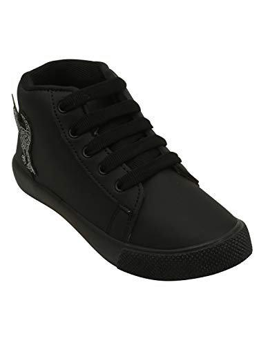 D'chica High Ankle Black Shoes for Boys Sneakers-2.5 Kids UK (35 EU) (DCNV5620)
