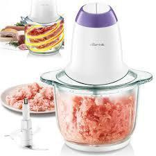 Inllex Electric Mini Food Chopper, 2L Stainless Steel Meat Grinder, Food Processor Onion Vegetable Garlic Chopper Blades Grinder for Meat, Vegetables, Fruits and Nuts Fast and Slow 2 Speeds
