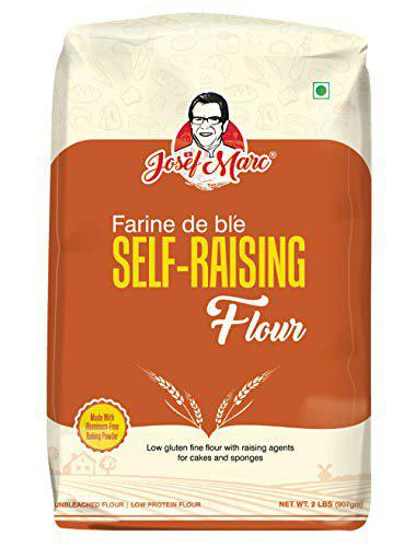 JOSEF MARC Unbleached Self Raising Flour, 2 LBS - Made with Non-Aluminum Baking Powder, Non-GMO, Non-Fortified and Non-bro-mated.