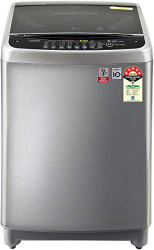 LG 8.0 Kg 5 Star Smart Inverter Fully-Automatic Top Loading Washing Machine (T80SJSS1Z, Free Silver, Jet Spray+)