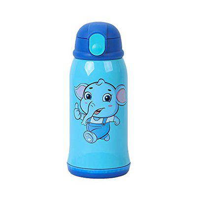 Shrisay Ventures Basics Blue Cartoon Double Wall Vacuum Insulated Stainless Steel Sipper Bottle