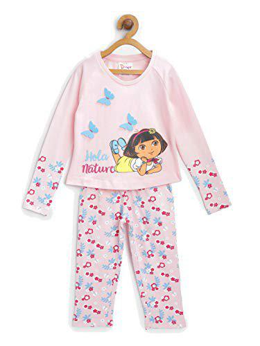 DORA Girl's Cotton Trousers Suit (DRPGCT2348_Barely Pink_2-3 Years)