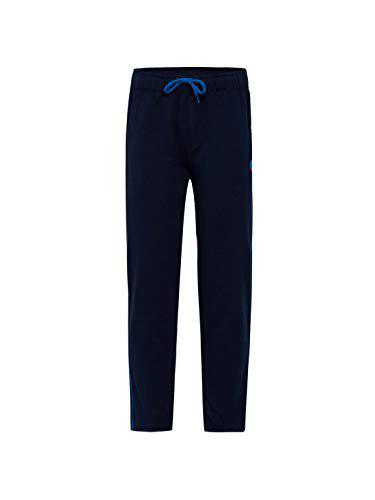 Jockey Boy's Slim Fit Trousers (AB13_Navy & Neon Blue_7-8 Years)