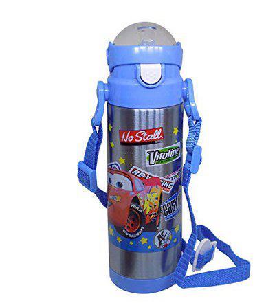 Prime Steel Water Bottles Cartoon Print for Kids Boys and Girls for Return Gift Item Pack of 1