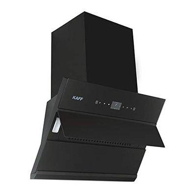 KAFF Chimney ALBURY DHC 60 Filter-Less Dry Heat Auto Clean Technology Front Black Glass with Clock Display Designed Max Airflow Upto 1280 Nm3 H