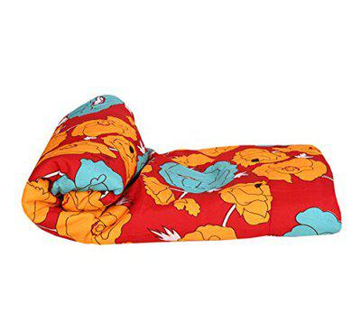 Fresh From Loom Glace Cotton AC Double Bed Comforter Blankets for Winter (Orange)