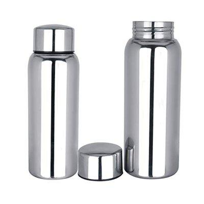 Apeiron Stainless Steel jointless Water Bottle Silver 500 ml Bottle (Pack of 2, Silver)