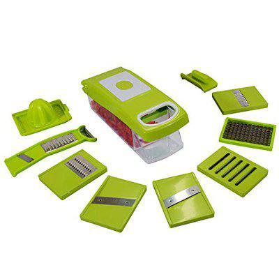 Dewberries Vegetable Dicer, Multi Chopper Set, 12 Cutting Blades, Green