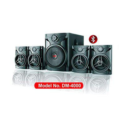 HD DIAMOND 4.1 Multimedia Speaker DM4000BT with Bluetooth, USB, AUX, FM Radio & Remote Control