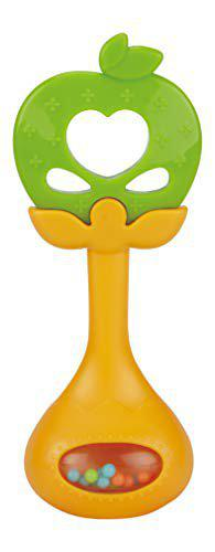 SYGA 1 Piece Baby Teether Rattle Toy Red_Green
