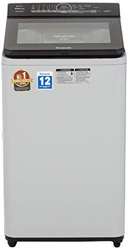 Panasonic 6.7 Kg Fully-Automatic Top Loading Washing Machine (NA-F67AH8MRB, Middle Free Silver)