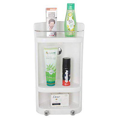 ORRIL ZOSHOMI Caddy Small Corner Cabinet| Bathroom Corner Cabinet wih Storage Space Wall Mount- Ivory (Set of 2)-Made in India (with 7 Years Warranty)