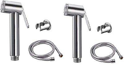 Prestige ABS Health Faucets Handle with SS Tube 1.5M for Bathroom/Toilet/Pack of 2