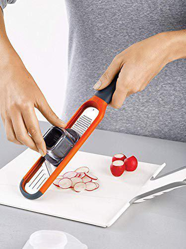 SNEPCOM 2-in-1 Mini Grater and Slicer Perfect for Grating and Slicing It has Razor Sharp Stainless Steel Blades Set on Either Side of The Design for Grating