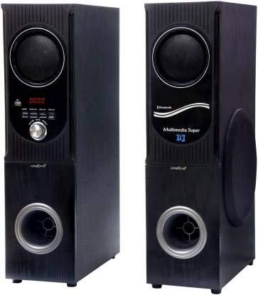 KRISONS (2.2) 75 W Bluetooth Tower Speaker (Black and Silver, 2.2 Channel)