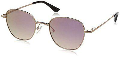 FCUK Mirrored Oval Unisex Sunglasses - (FC 7441 C2 62 S|62|Pink Color Lens)