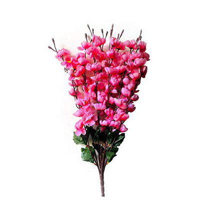 Ryme Beautiful White Orchid Artificial Flowers for Decoration (Pink)