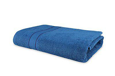 Roseate Elegance 100% Cotton (550 GSM / 70x140 cm) Ultra Soft Large Bath Towel Super Absorbent/ Anti Bacterial (Blue) Pack of 1