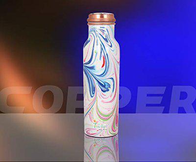 Tuelip Copper Water Bottle, 500ml, Set of 1