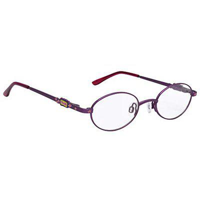 Hrinkar Full Rim Oval Round Purple Trendy Designer Stylish Eyewear Single Vision Eye Glasses Latest Optica Spectacles Frame Chasma Frames for Kids Girls and Boys -HFRM-126-PNK