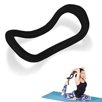 FITSY Yoga Ring Yoga Circle Stretch Ring Fascia Massage Workout Pilates Ring Fitness Home Gym Accessories, 23 x 12 cm, Black