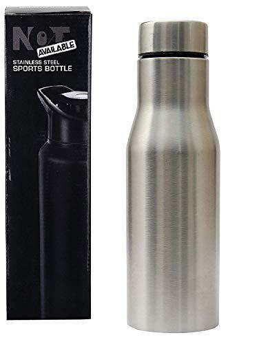 Not Available Stainless Steel Fridge Bottle Leak Proof Steel Bottle for Water 750 ml