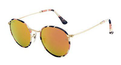 Ted Smith Round Unisex Sunglasses (TSS3447-CP_PINK CHK)