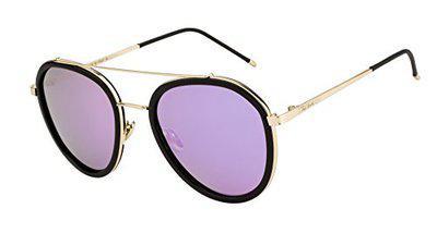Ted Smith Polarized Aviator Unisex Sunglasses - (TSS-17151S_GLD-PUR)