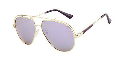 Ted Smith Polarized Aviator Unisex Sunglasses - (TSS-17116S_GLD-PUR)
