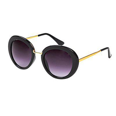 Ted Smith UV Protected Oval Women's Sunglasses - (TSS-JS110006S_BLK|59|GREY GRADED Color Lens)