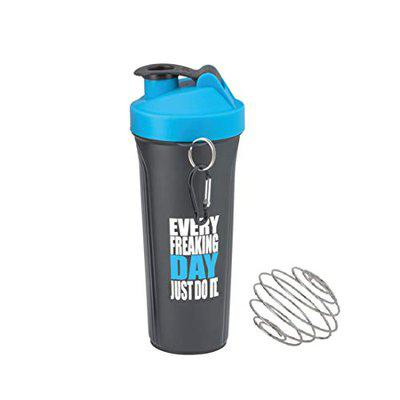FABLE Spider Shaker Bottle, 100% Leak Proof Guarantee, Ideal for Protein, Pre Workout,900ML (Blue)