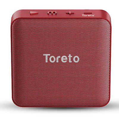 Toreto BASH-336, 5W Portable Wireless Bluetooth Speaker with Mic (TOR-336,Red)