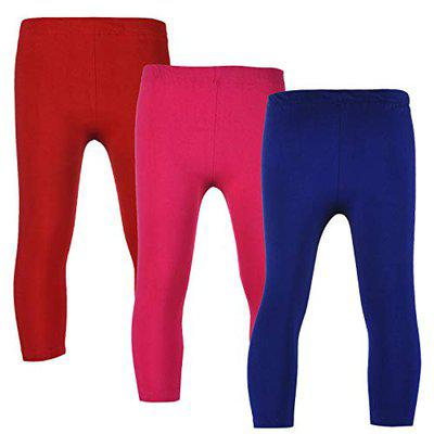 Stylo Bug Girls Solid Leggings Combo of 3 Pices
