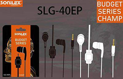 SONILEX in-Ear Bass Mobile Earphone Budget Series Champ (SLG-40EP)