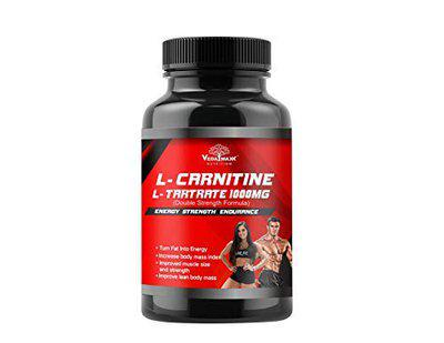 VEDA MAXX Pure Extra Strength L-Carnitine 1000mg 60 veg Capsules Boost Your Metabolism and Increase Performance