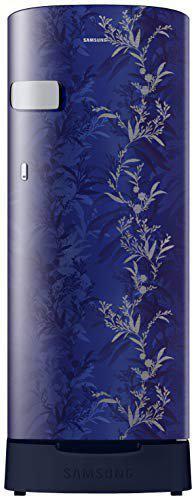 Samsung 192 L 2 Star Direct-Cool Single Door Refrigerator (RR19T2Z2B6U/NL, Mystic Overlay Blue)