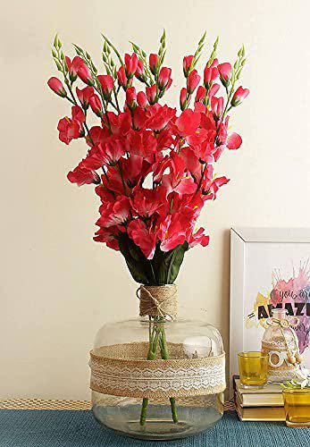 Crystal Artificial Orchid Flowers (Pink)